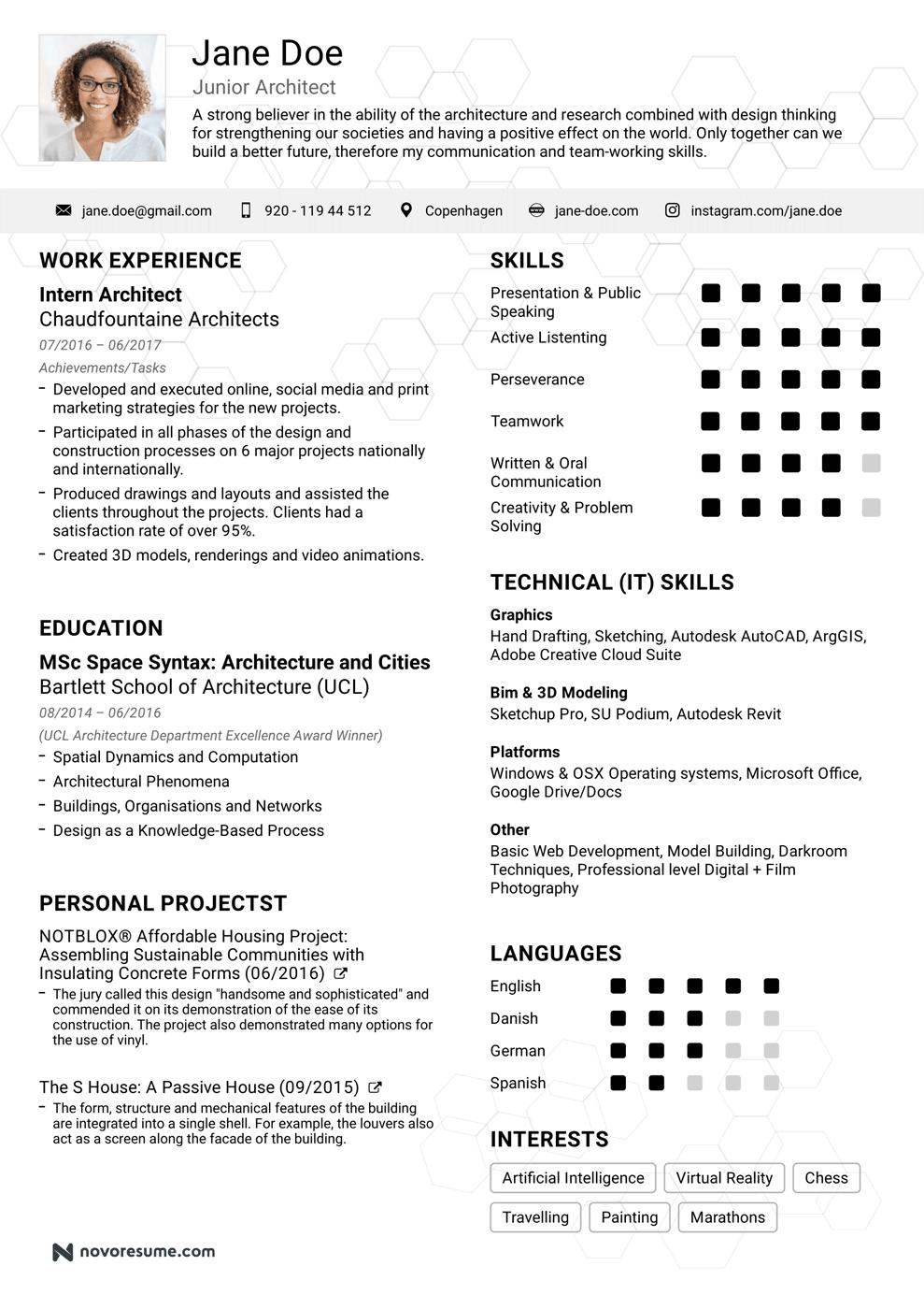 resume samples